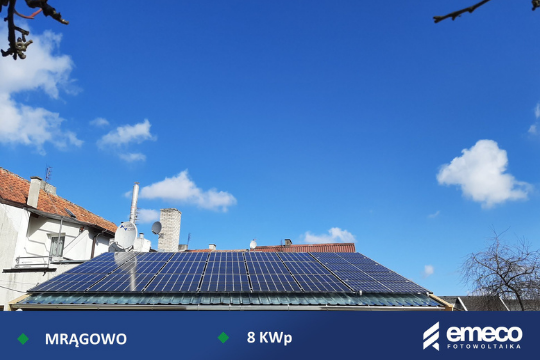 Fotowoltaika Mrągowo 8 kW