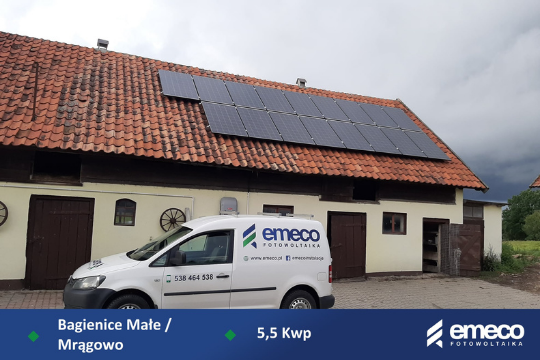 Fotowoltaika Mrągowo/Bagienice 5,5 kW